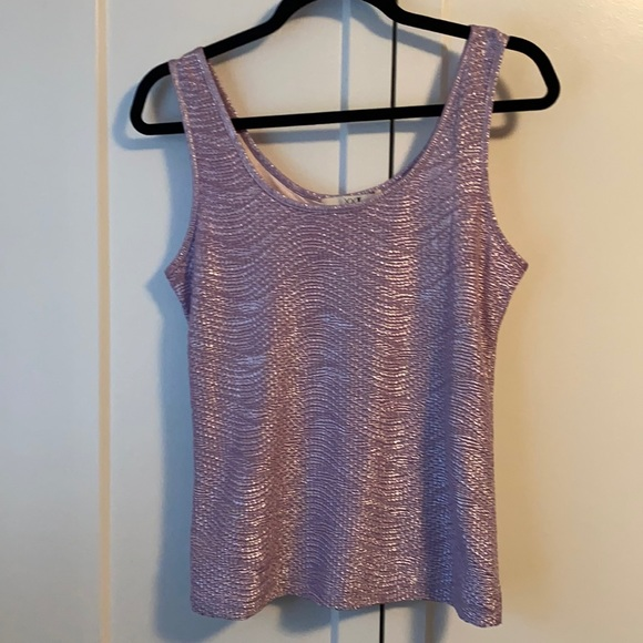 Forever21 Shiny Purple Textured Tank Top